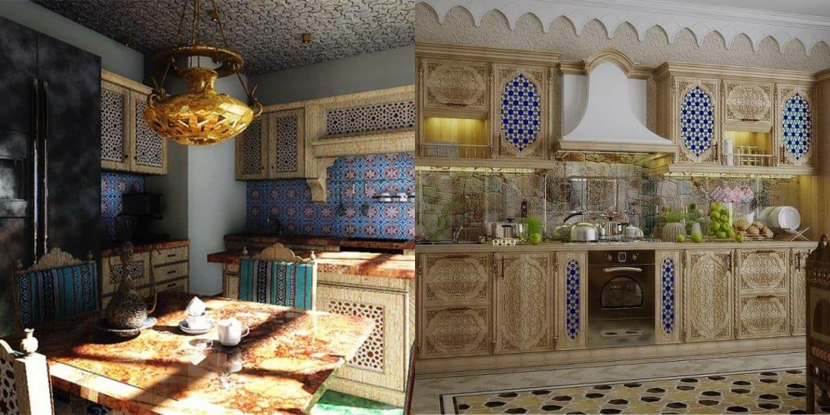 Кухня в арабском стиле: мебель