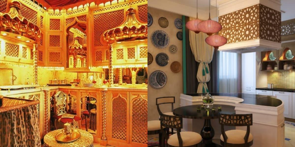 Кухня в арабском стиле: решетка