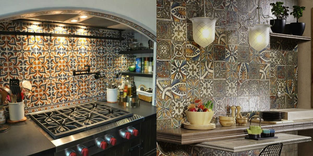 Кухня в арабском стиле: орнамент