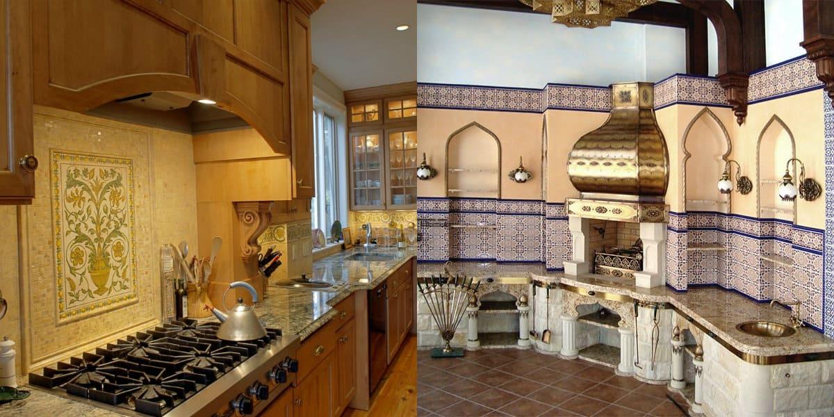 Кухня в арабском стиле: ниши