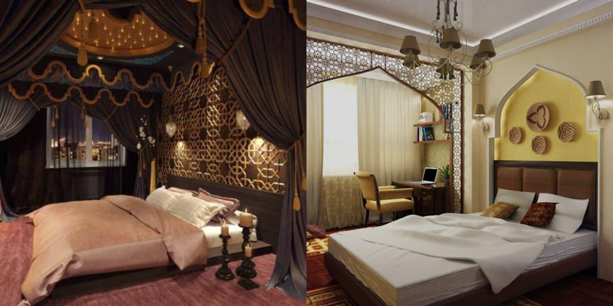 Спальня в восточном стиле: декор