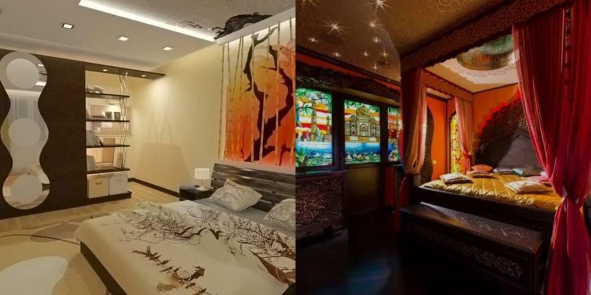 Спальня в восточном стиле: японский интерьер