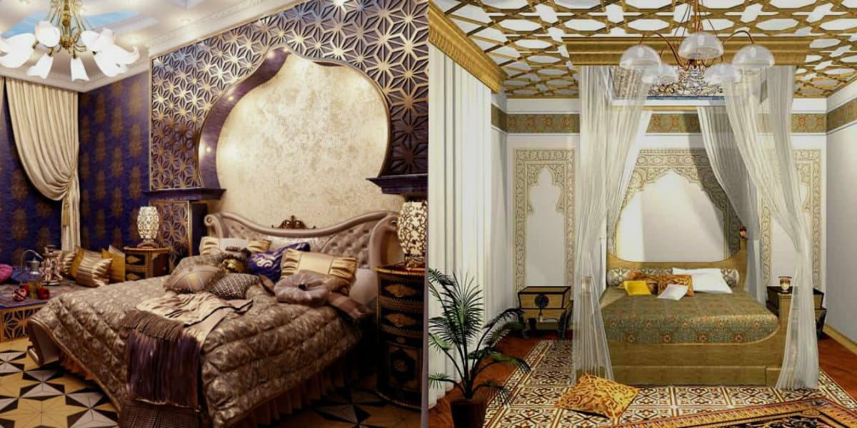 Спальня в восточном стиле: альков