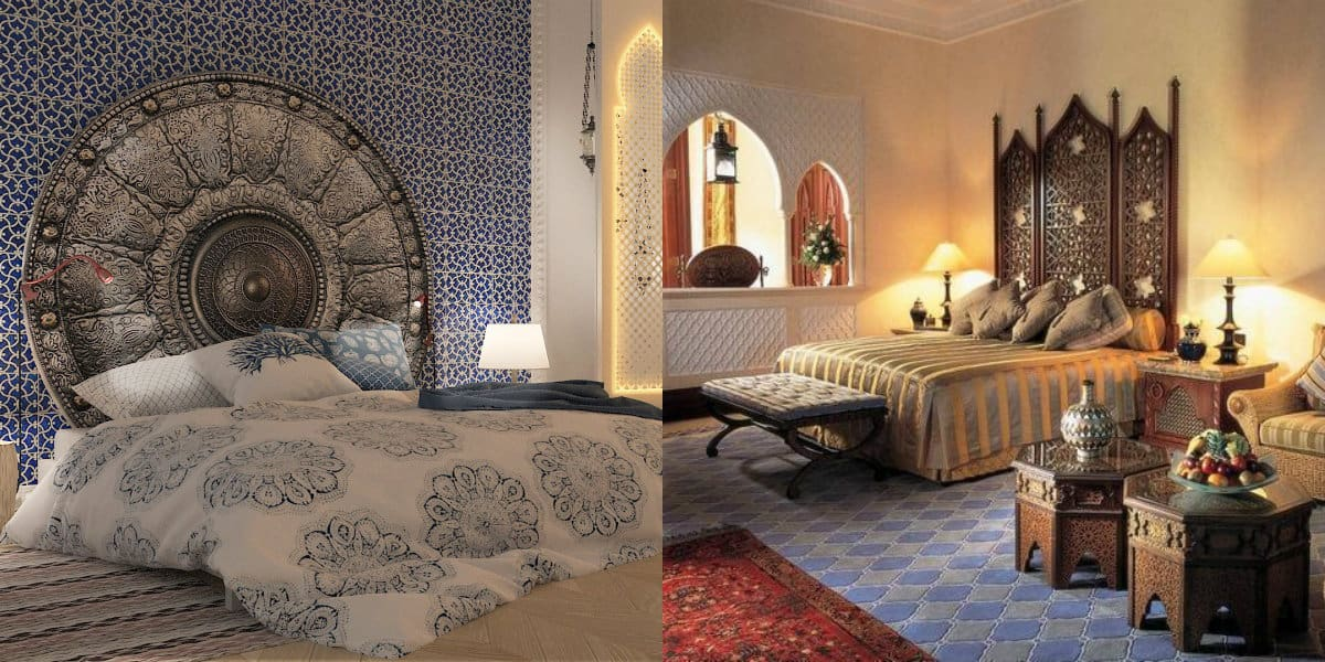 Спальня в восточном стиле: изголовье кровати