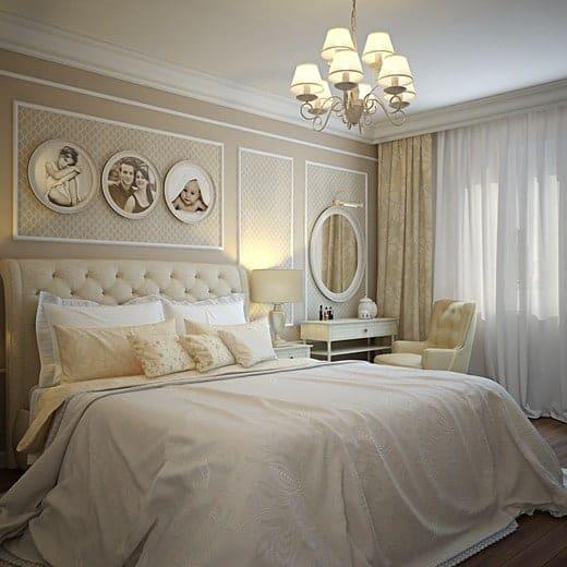 спальня в стиле модерн комфортный интерьер в приглушенных тонах