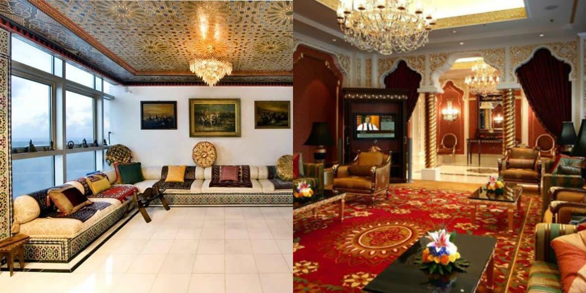 арабский стиль в интерьере: потолок