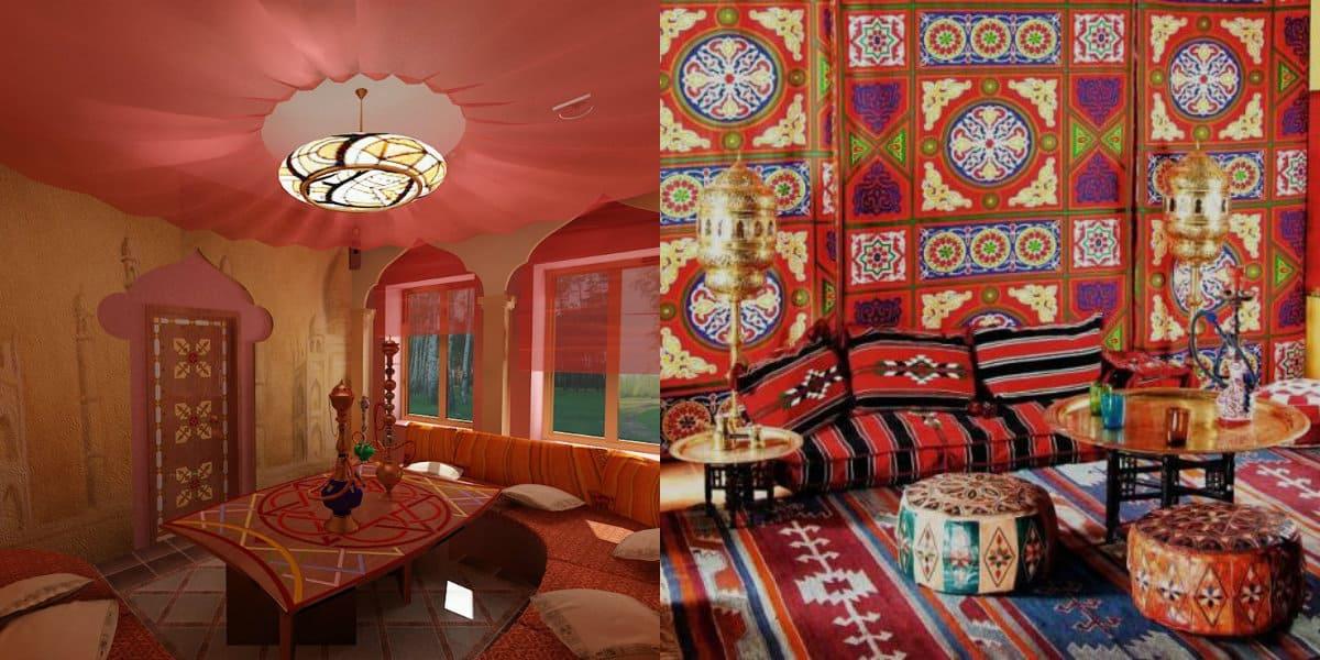 арабский стиль в интерьере: цвет -арабский стиль в интерьере фото