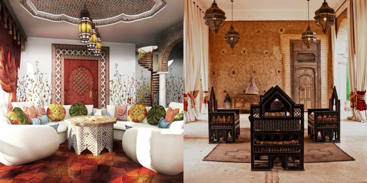 арабский стиль в интерьере: диван