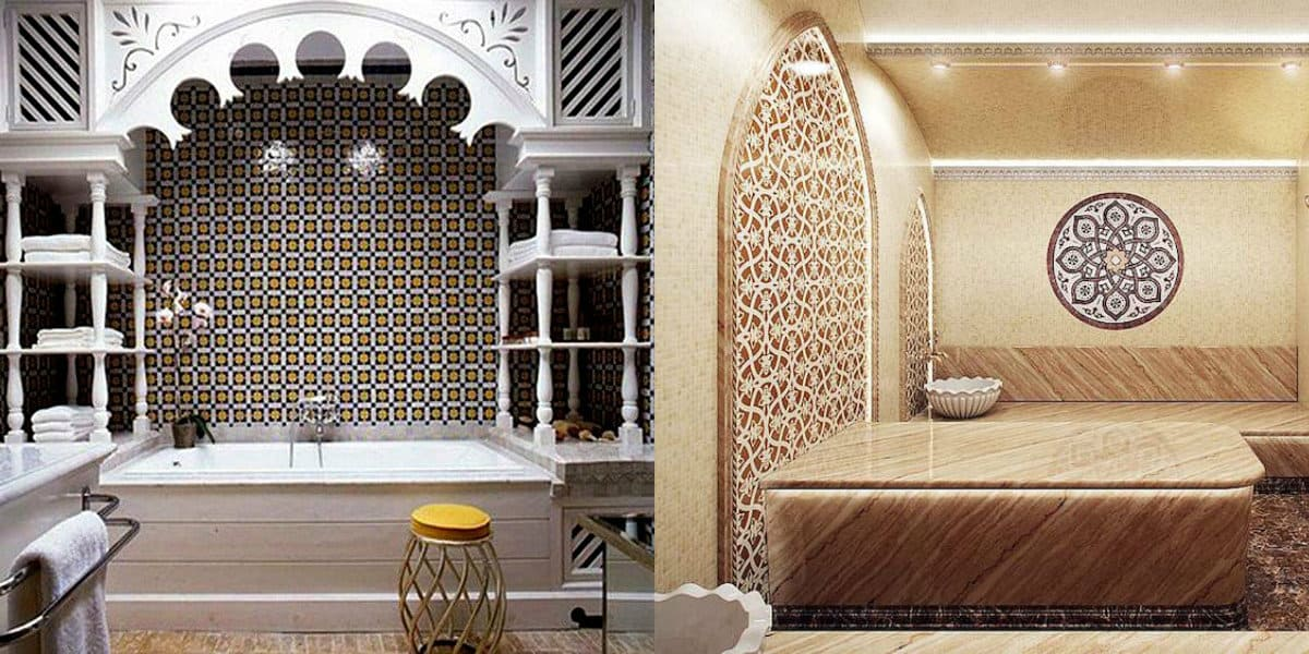 Ванная в восточном стиле: мозаика