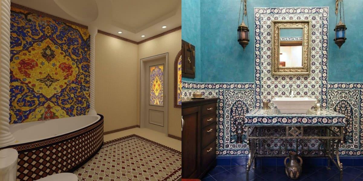Ванная в восточном стиле: зеркало
