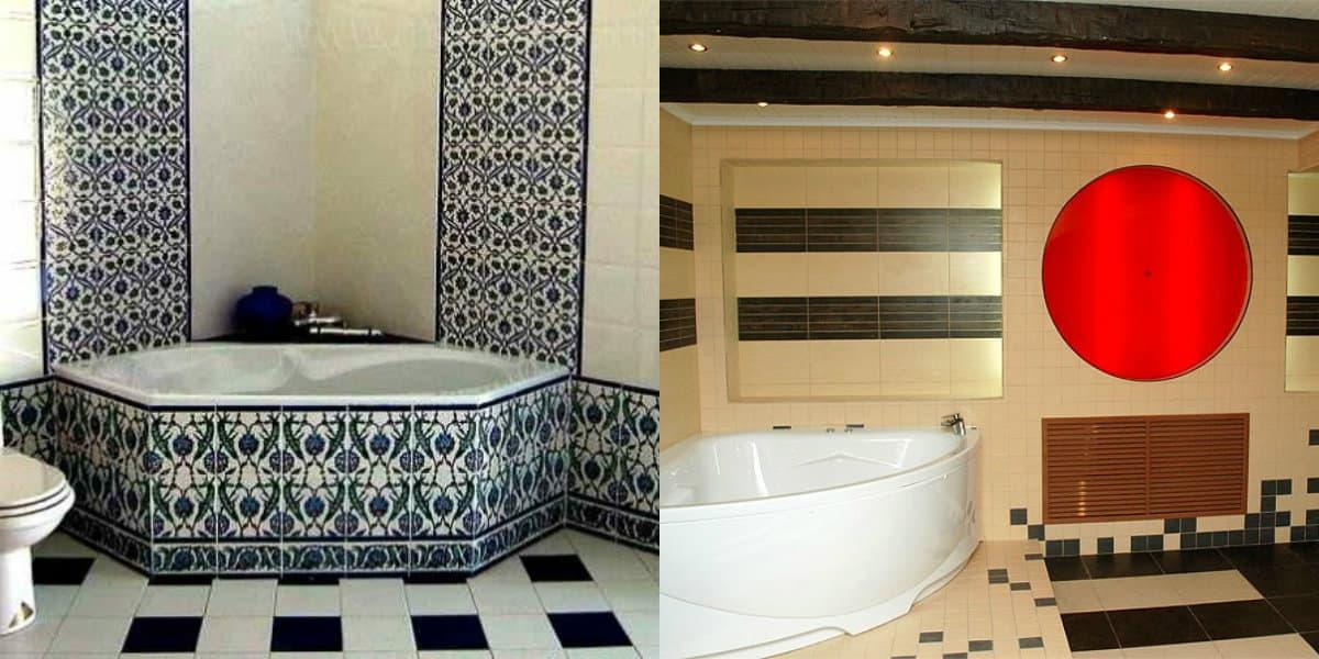 Ванная в восточном стиле: ванна