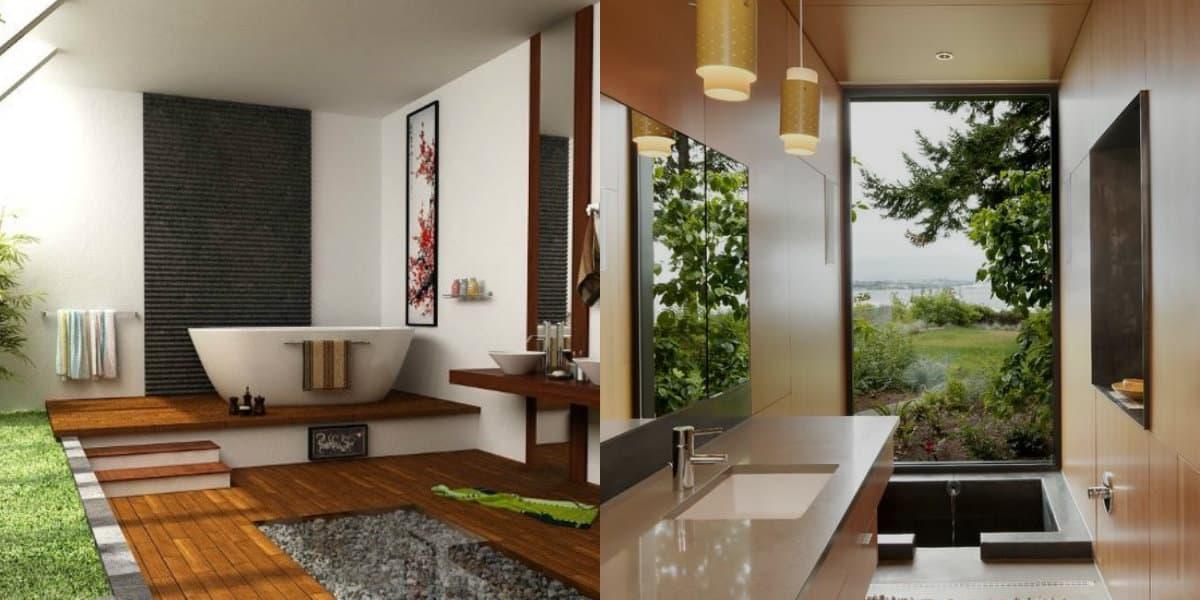 Ванная в восточном стиле: светильники