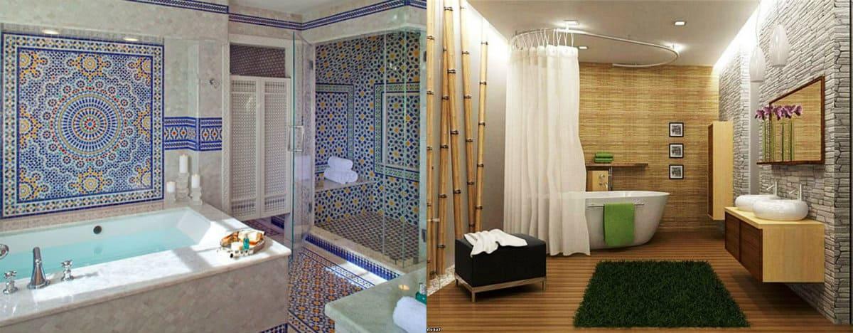 Ванная в восточном стиле: японский дизайн