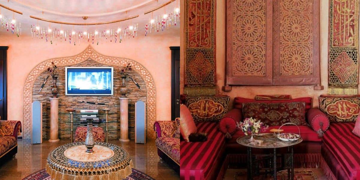 Гостиная в восточном стиле: орнамент