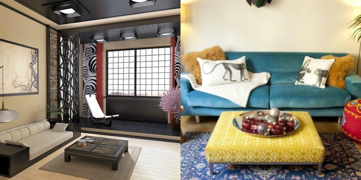 Гостиная в восточном стиле: японский дизайн
