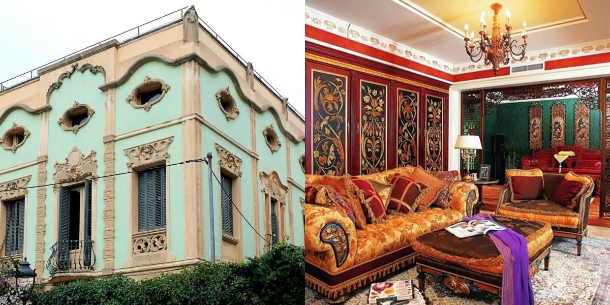 Дом в восточном стиле: диваны