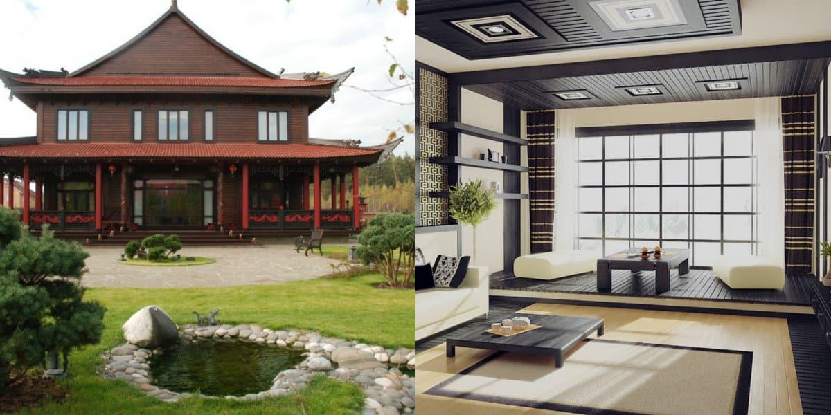 Дом в японском стиле: ландшафт