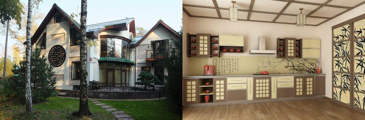Дом в японском стиле: кухня