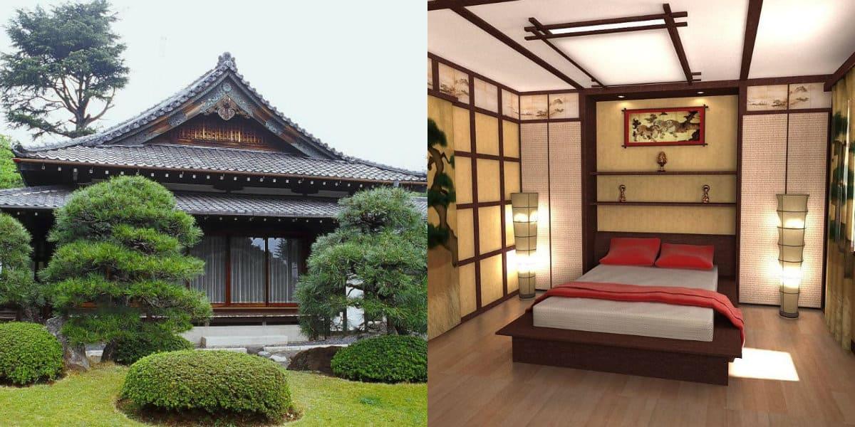 Дом в японском стиле: крыша
