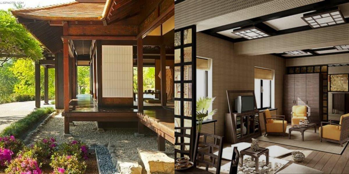 Дом в японском стиле: отделка