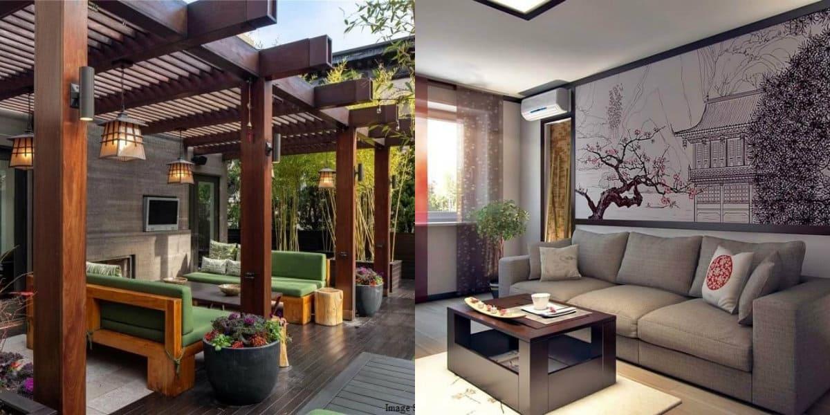 Дом в японском стиле: терраса