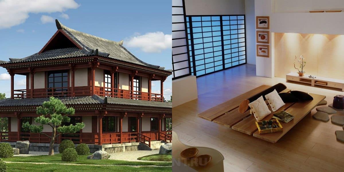 Дом в японском стиле: интерьер