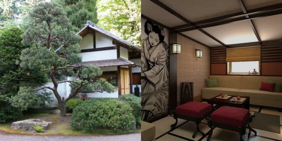 Дом в японском стиле: декор