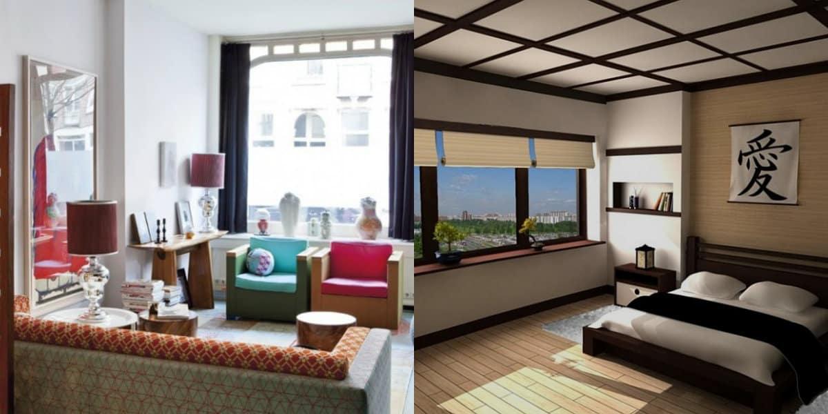 Квартира в восточном стиле: окна