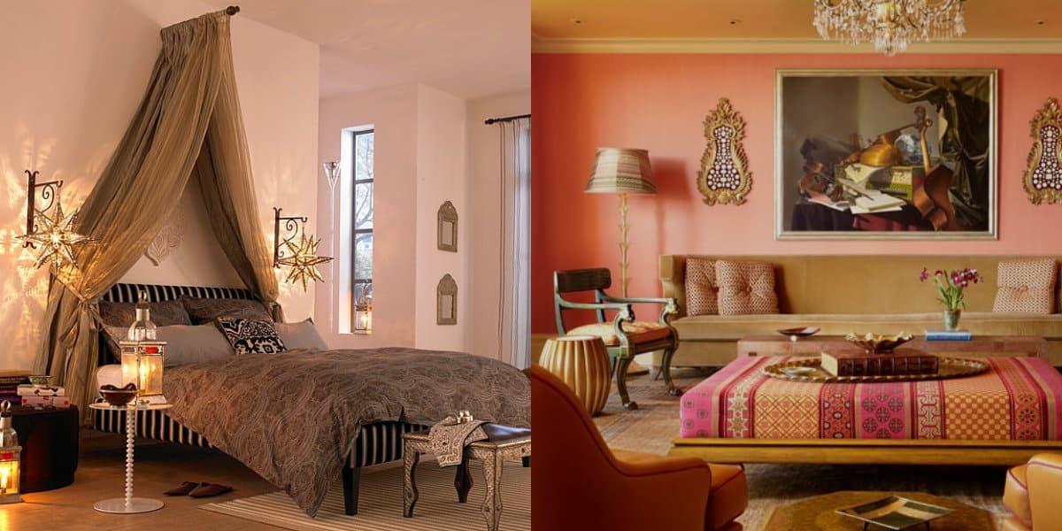 Квартира в восточном стиле: балдахин