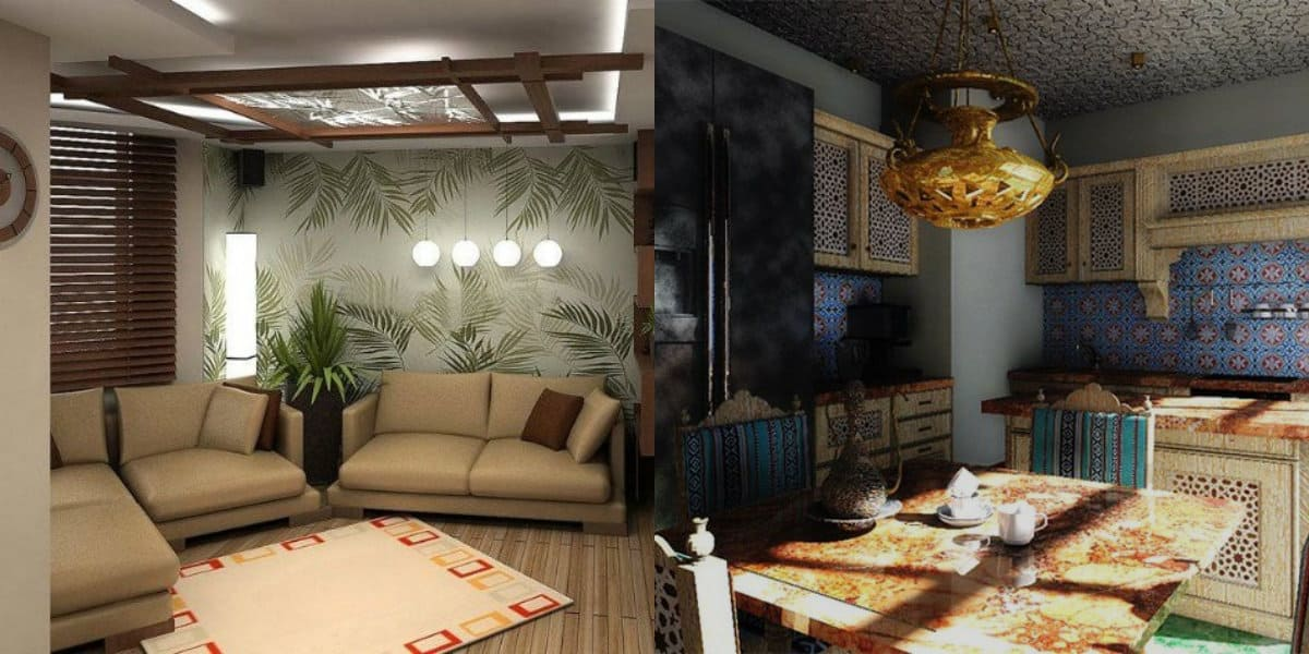 Квартира в восточном стиле: кухня