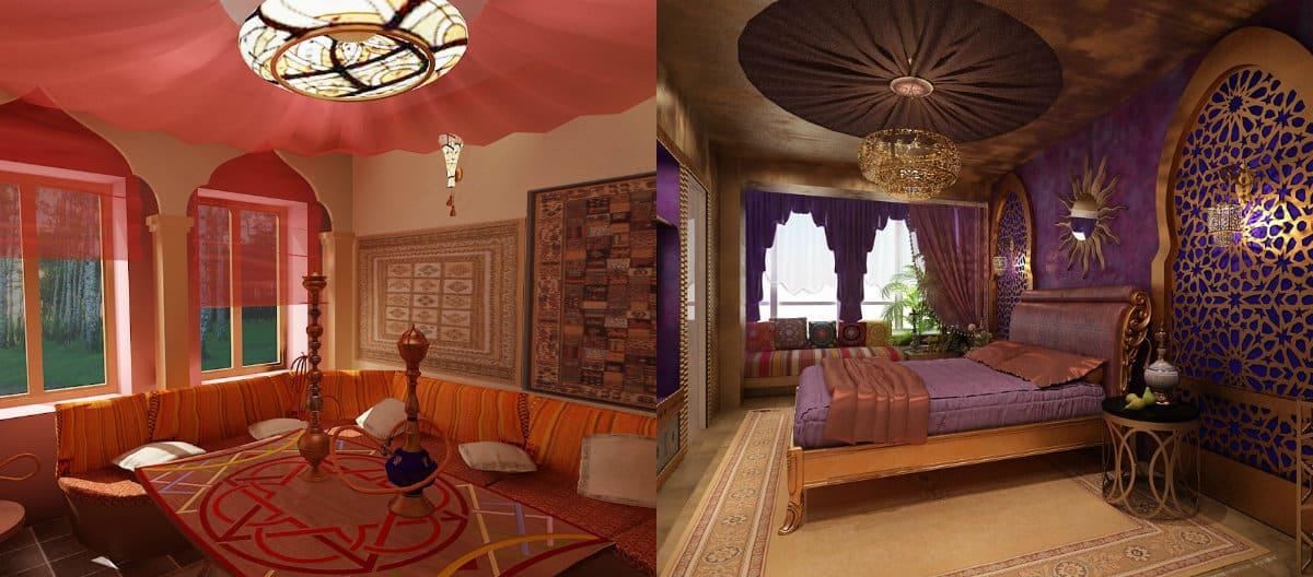 комната в восточном стиле: арки