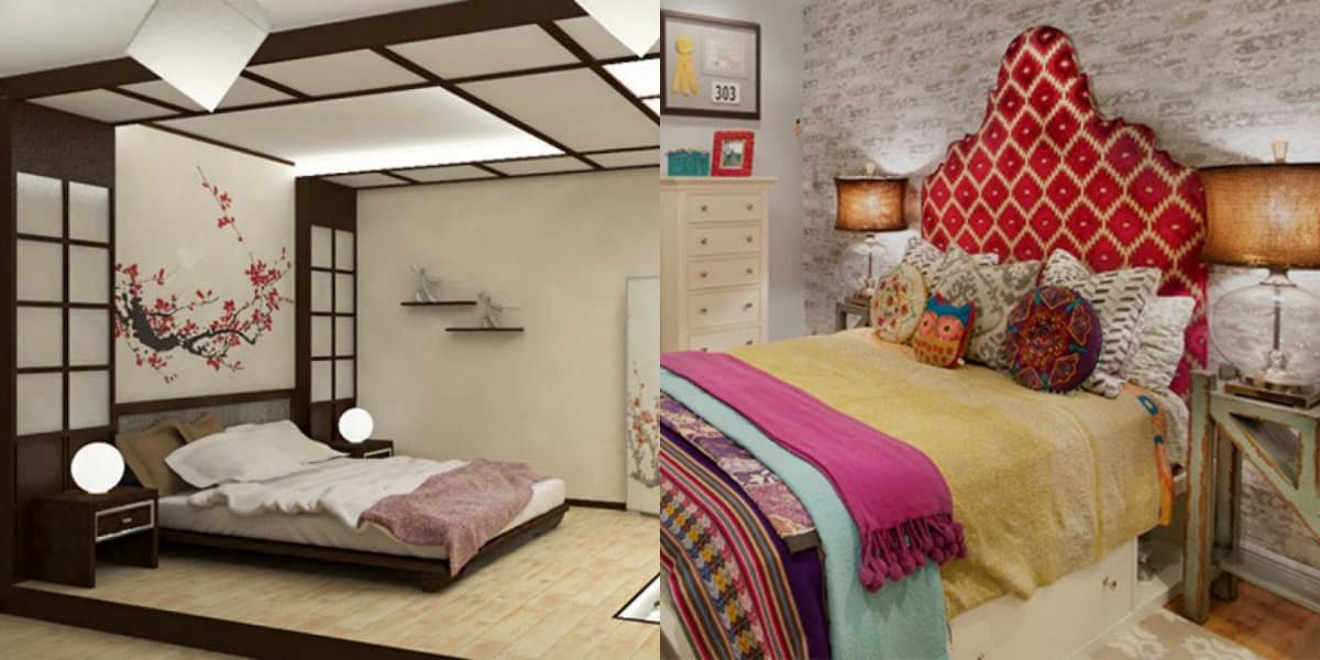 комната в восточном стиле: цвет