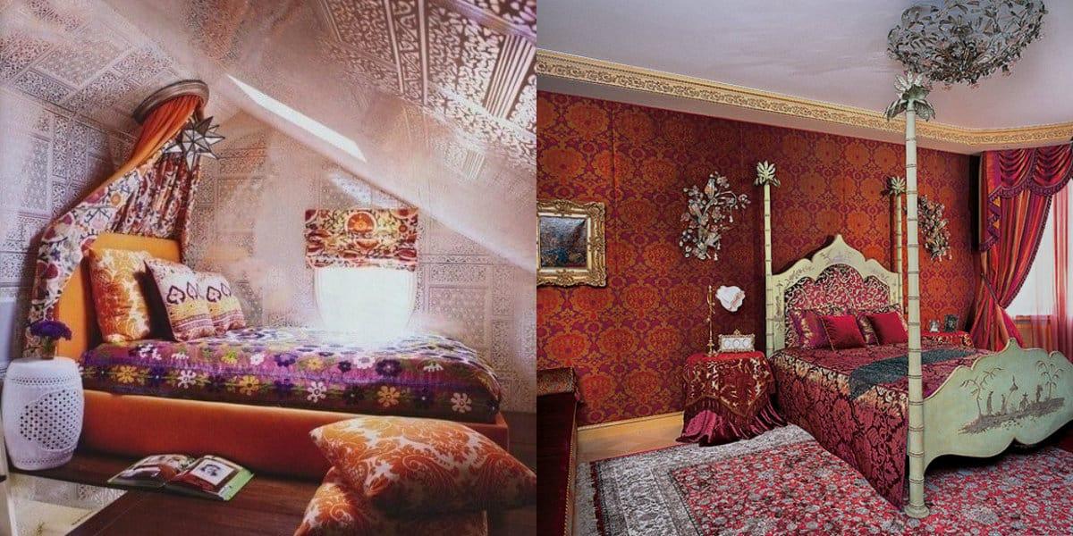 комната в восточном стиле: спальня