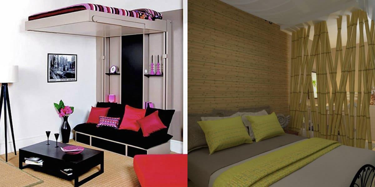комната в восточном стиле: квартира-студия