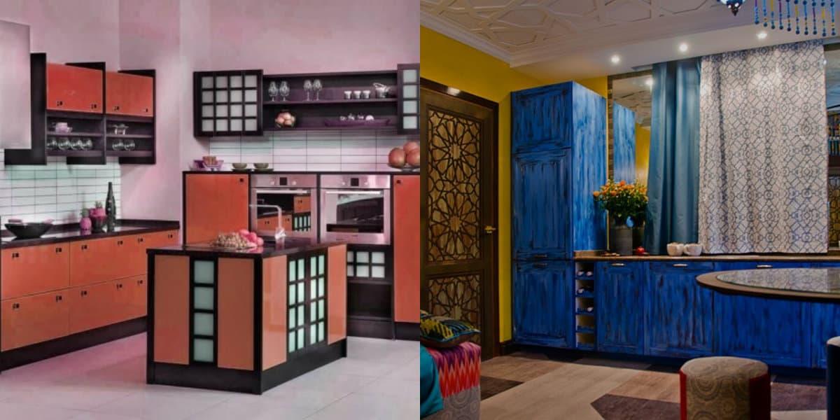 Кухня в восточном стиле: цвет