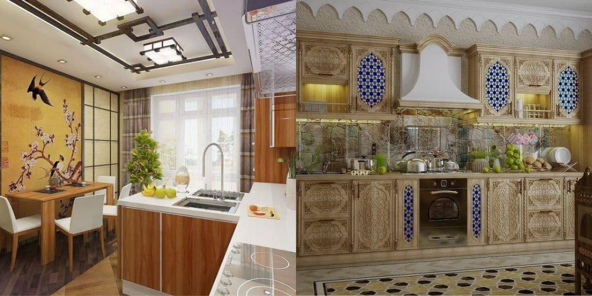 Кухня в восточном стиле: панно