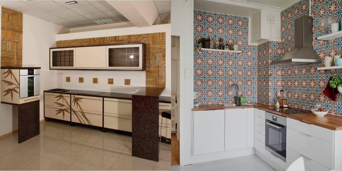 Кухня в восточном стиле: плитка