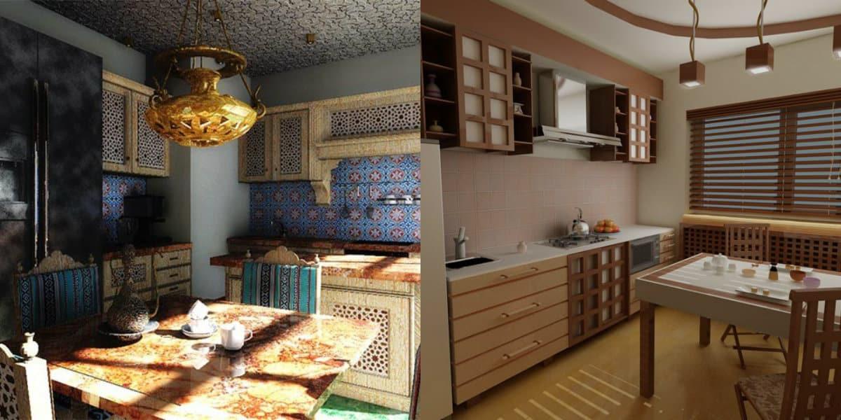 Кухня в восточном стиле: фартук
