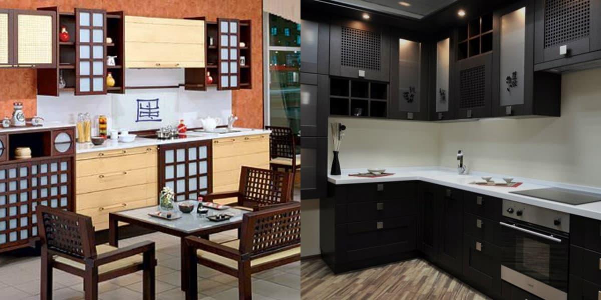 кухня в японском стиле: мебель