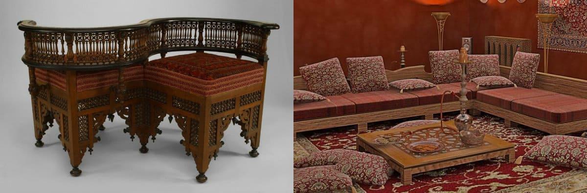 Мебель в восточном стиле: сиденье