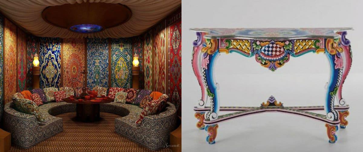 Мебель в восточном стиле: журнальный стол