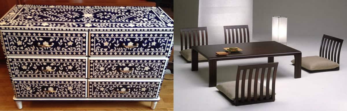 Мебель в восточном стиле: японская столовая группа