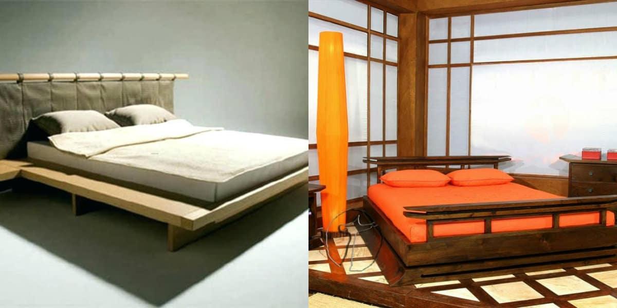 Мебель в японском стиле: кровать
