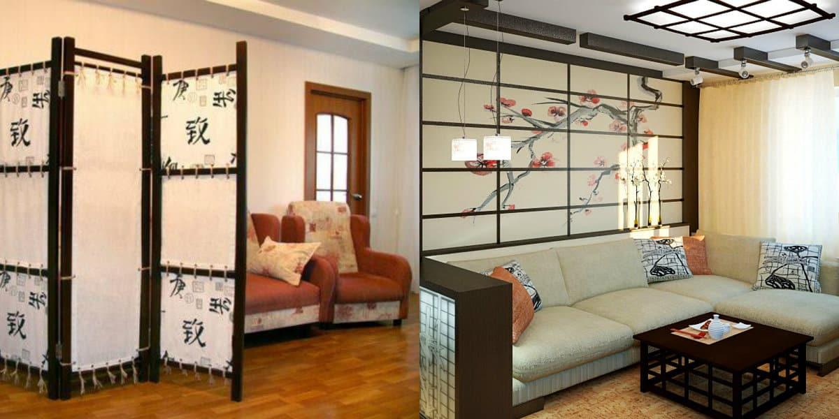 Мебель в японском стиле: ширма