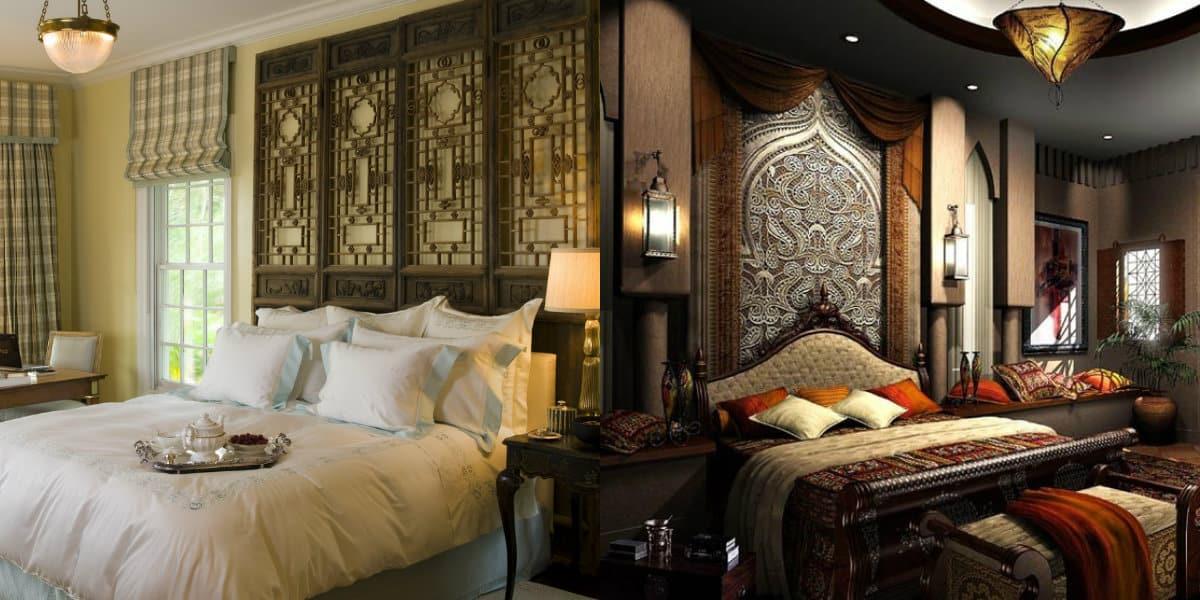 Спальня в арабском стиле: подушки