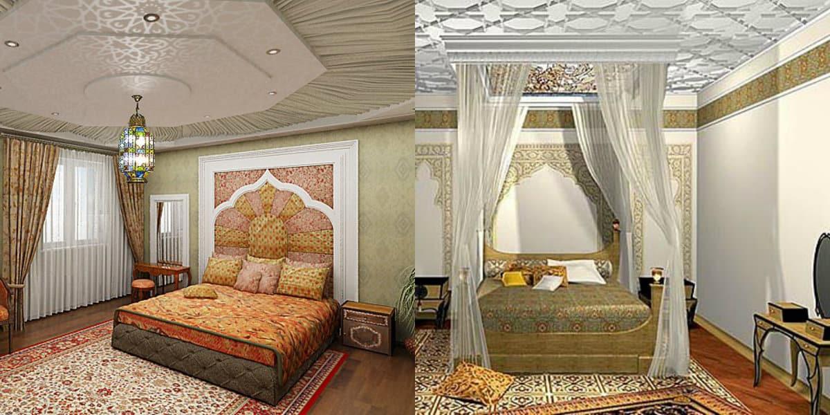 Спальня в арабском стиле: текстиль