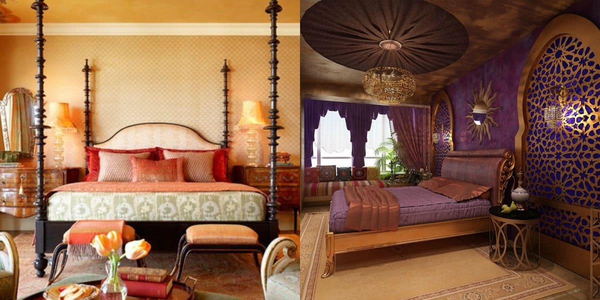 Спальня в арабском стиле: резной декор