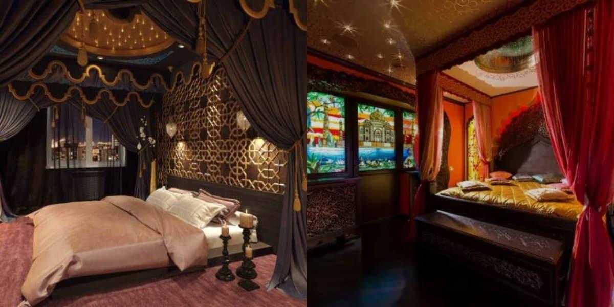 Спальня в арабском стиле: освещение
