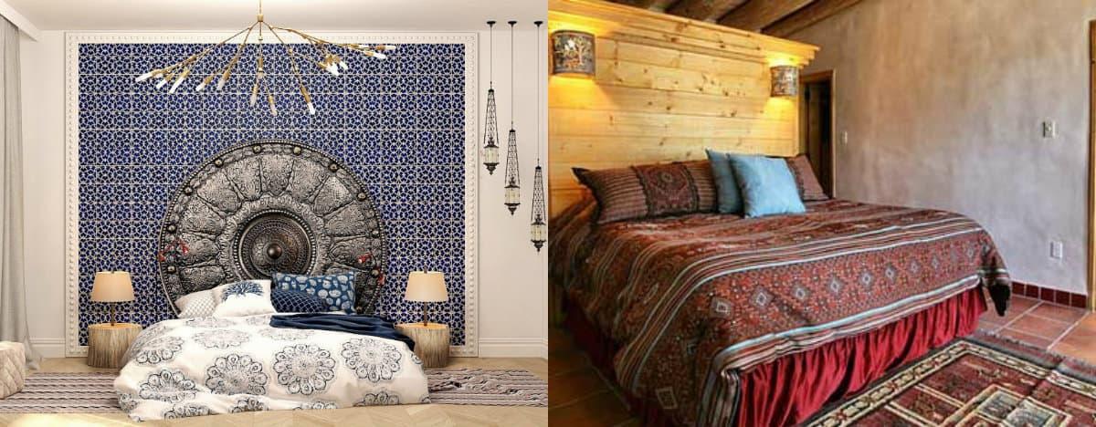 Спальня в арабском стиле: кованные детали