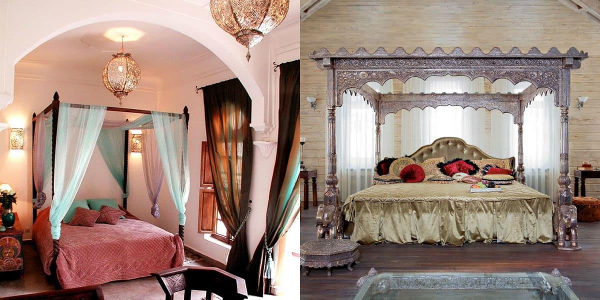 Спальня в арабском стиле: арки